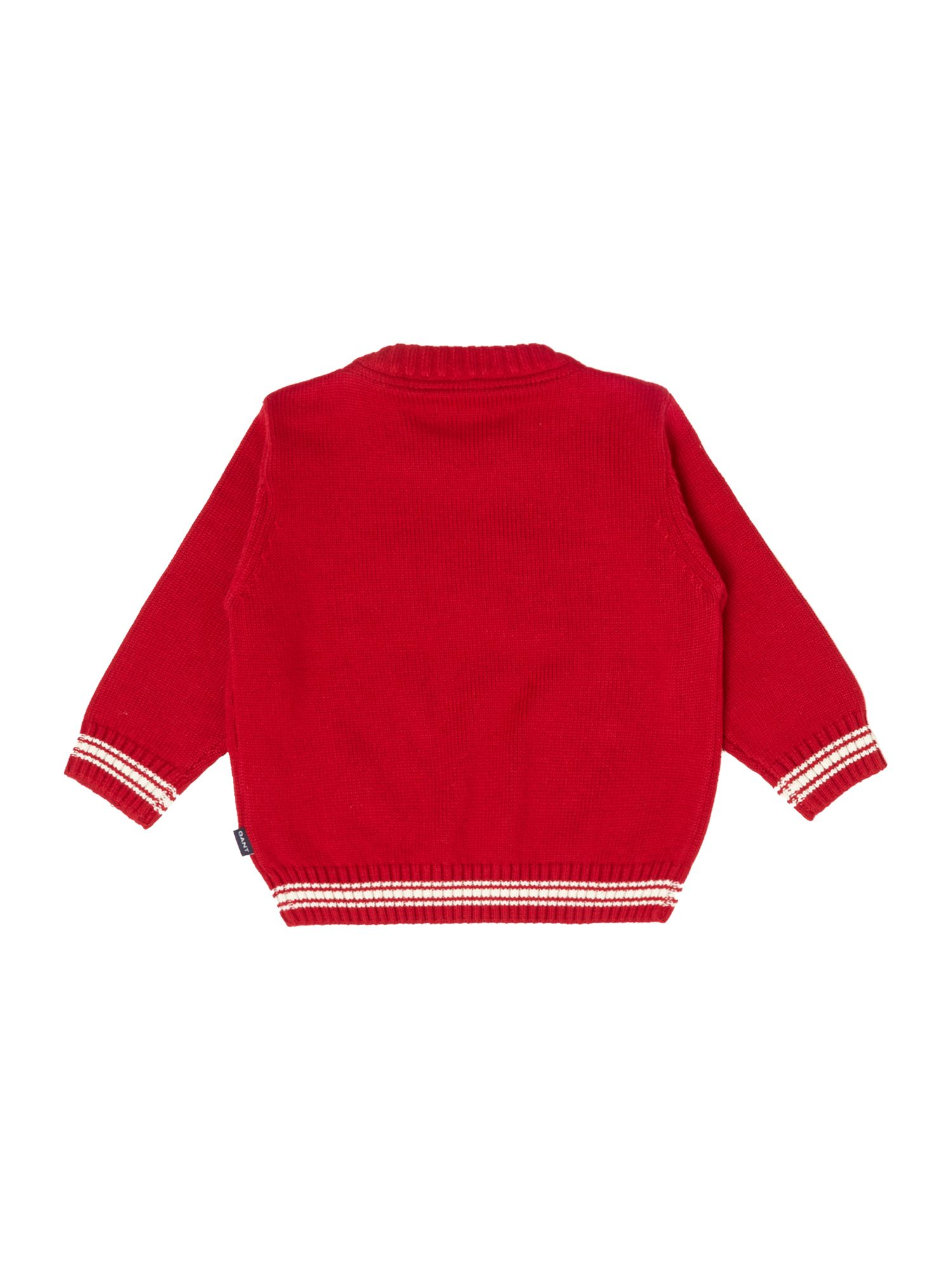 Boy`s crew neck logo jumper