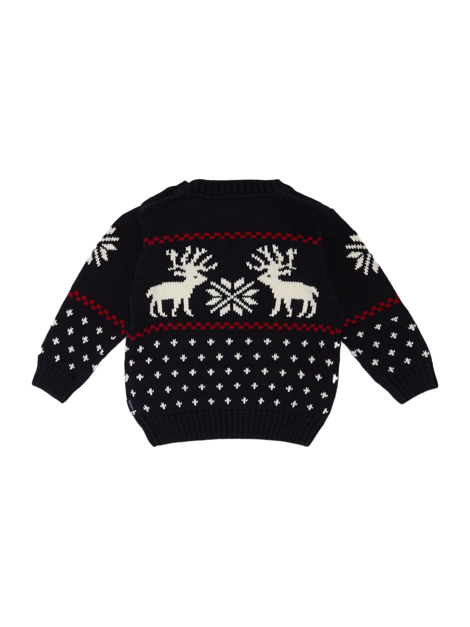 Boy`s crew neck reindeer jumper