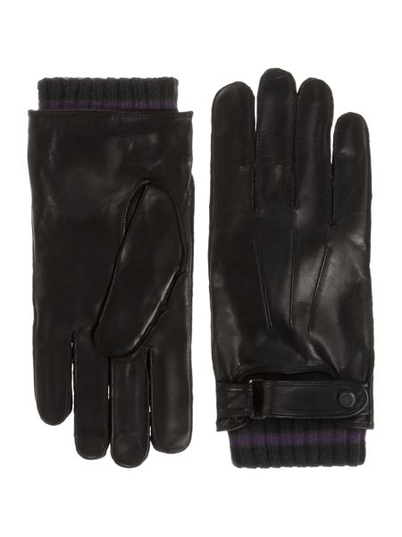 Ted Baker Core leather rib cuff glove