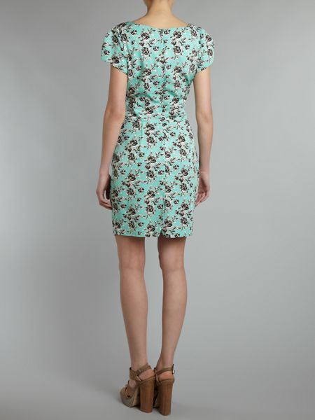 Whistle & Wolf Drawn floral tailored dress