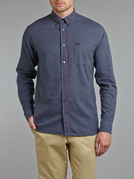 Fred Perry Tipped marl long sleeve shirt