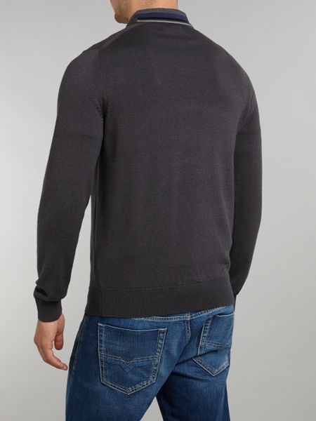 Fred Perry Classic merino tipped v-neck jumper