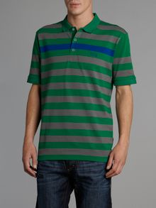 Thick stripe polo