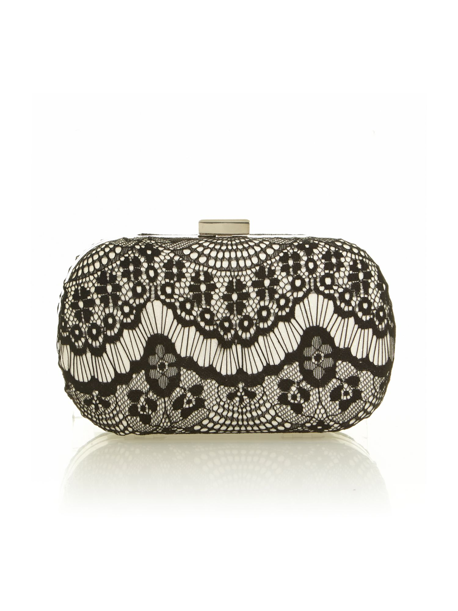 Rock lace box clutch
