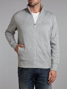 Zip funnel neck sweatshirt