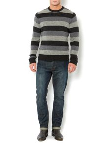 Thirsk striped knitted jumper