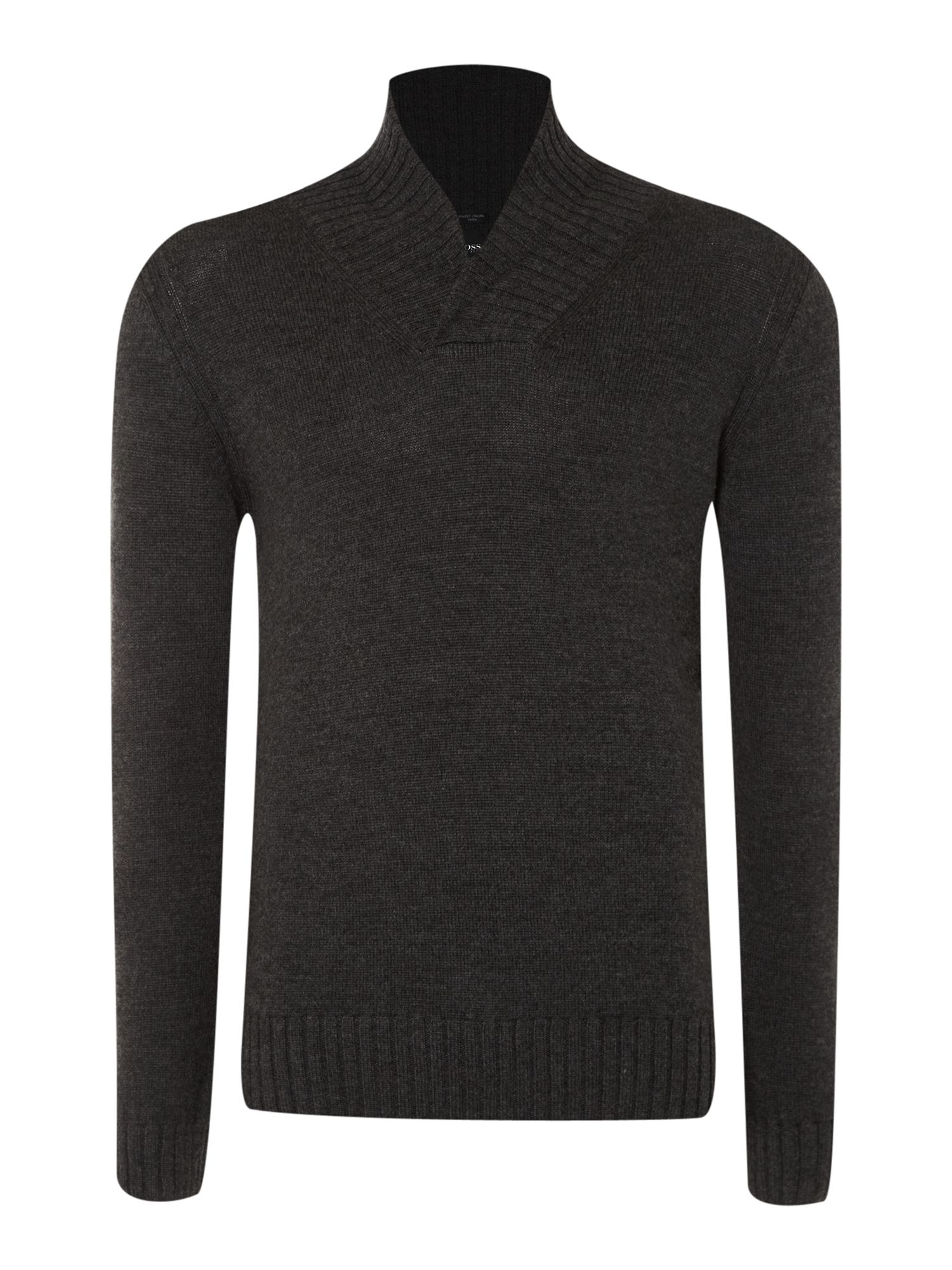 Shawl neck jumper