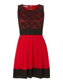 Wal-G Fit and Flare Dress