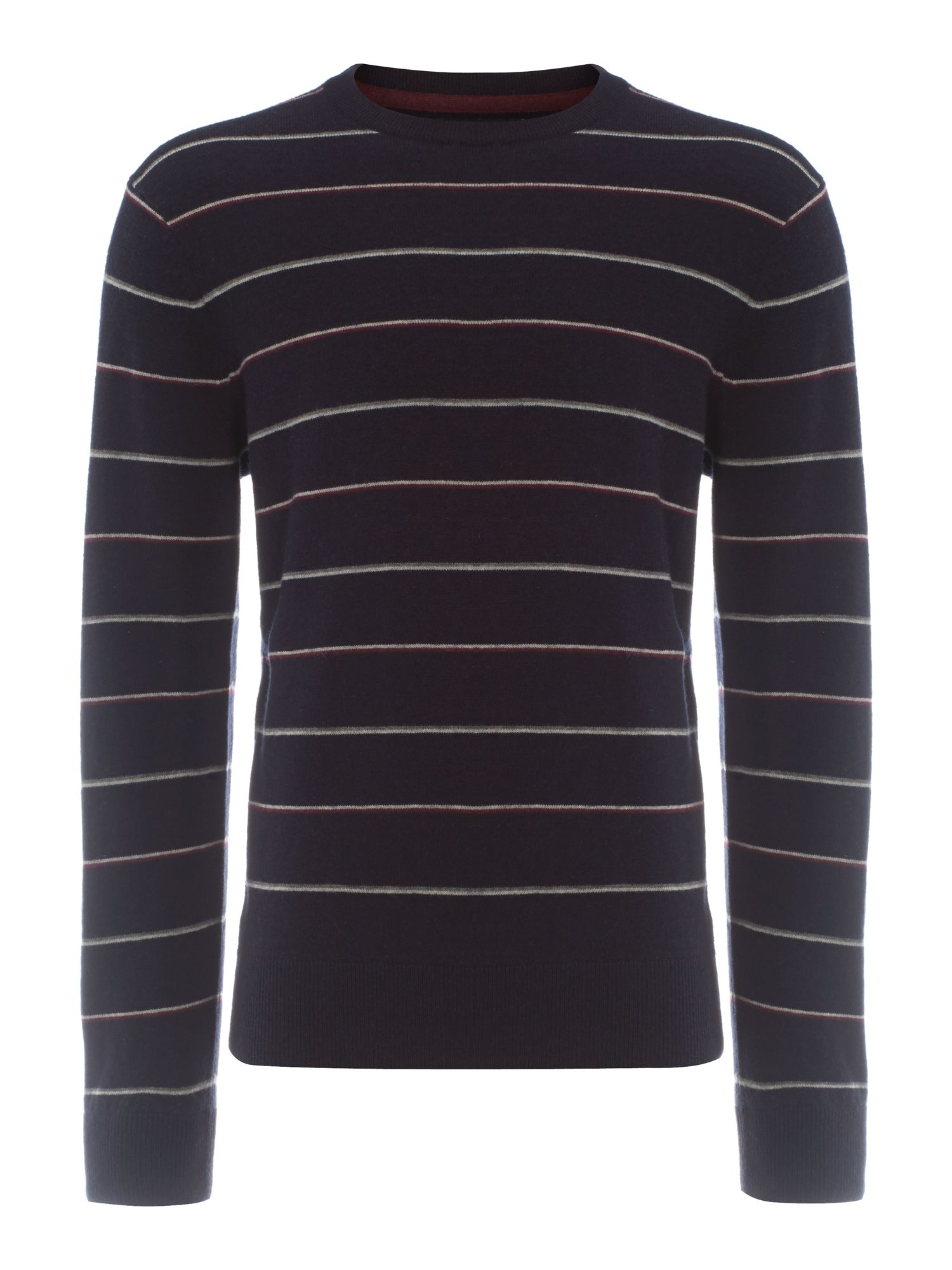 Malton striped knitted jumper
