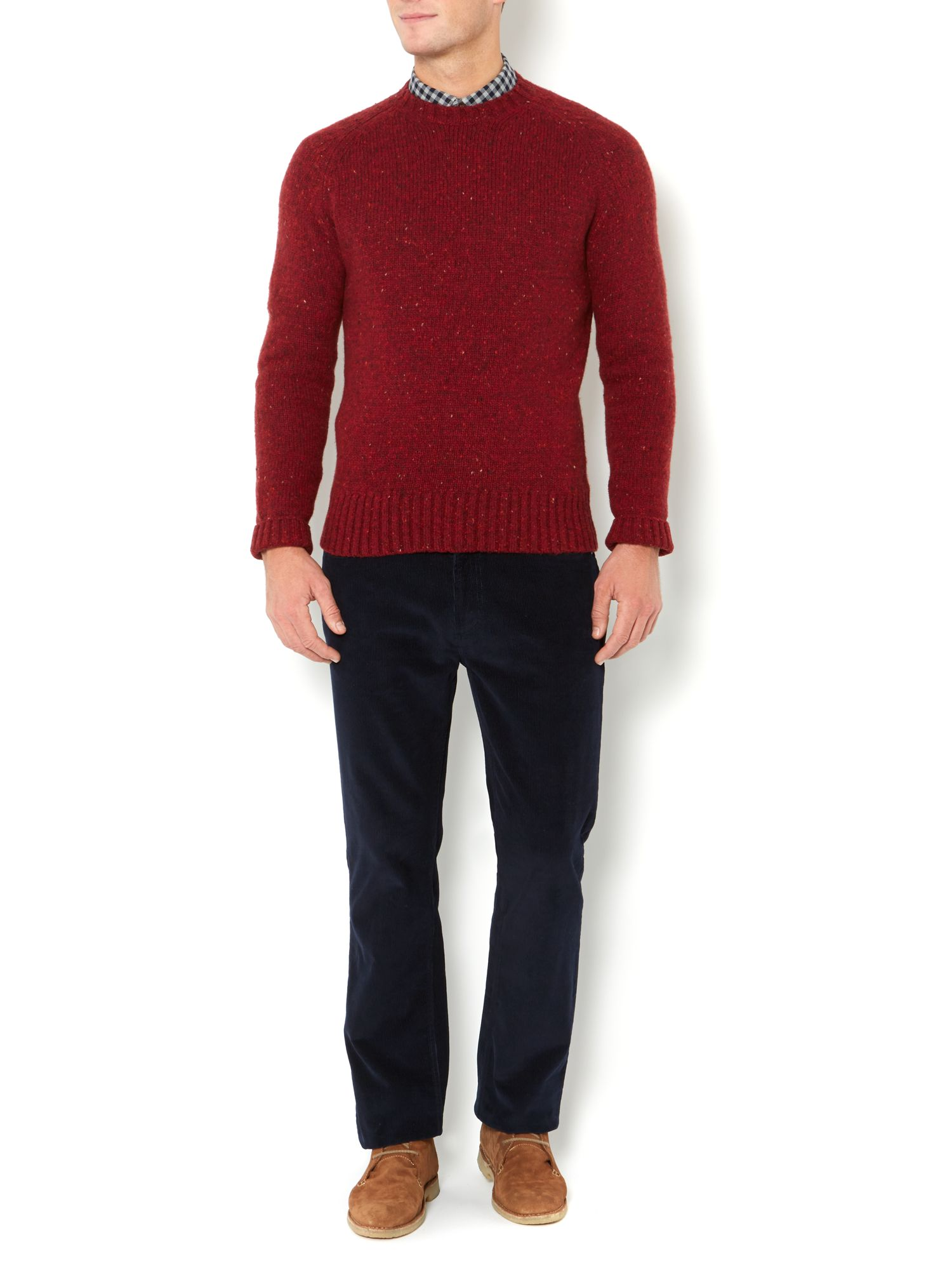 Stormcloud crew knitted jumper