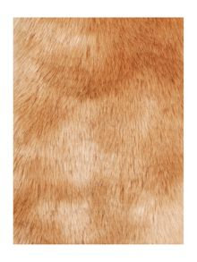 Natural faux fur slot through scarf
