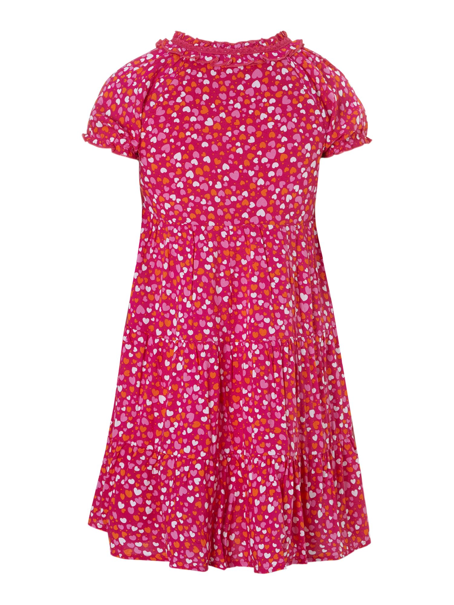 Girl`s heart print dress