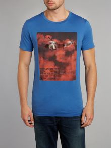 Helicopter print t-shirt