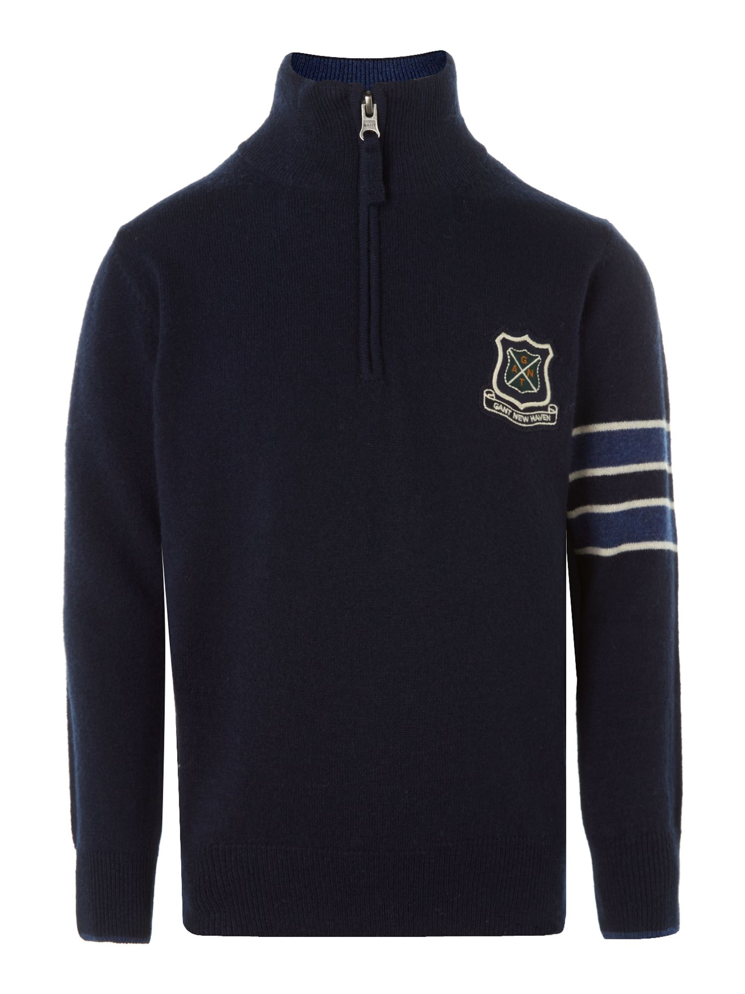 Boy`s half zip university jumper