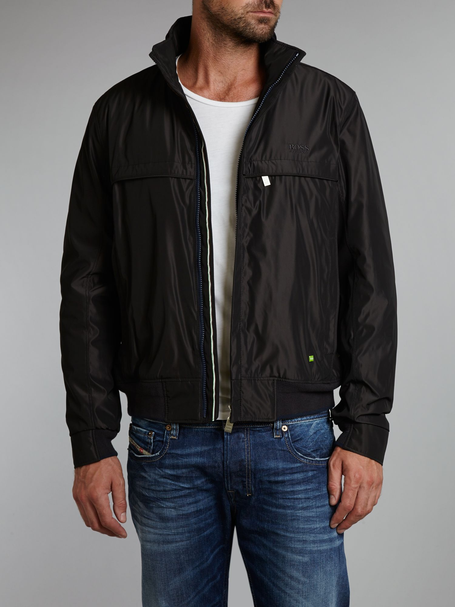Light weight two tone bomber jacket