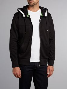 Zip up hooded sweatshirt