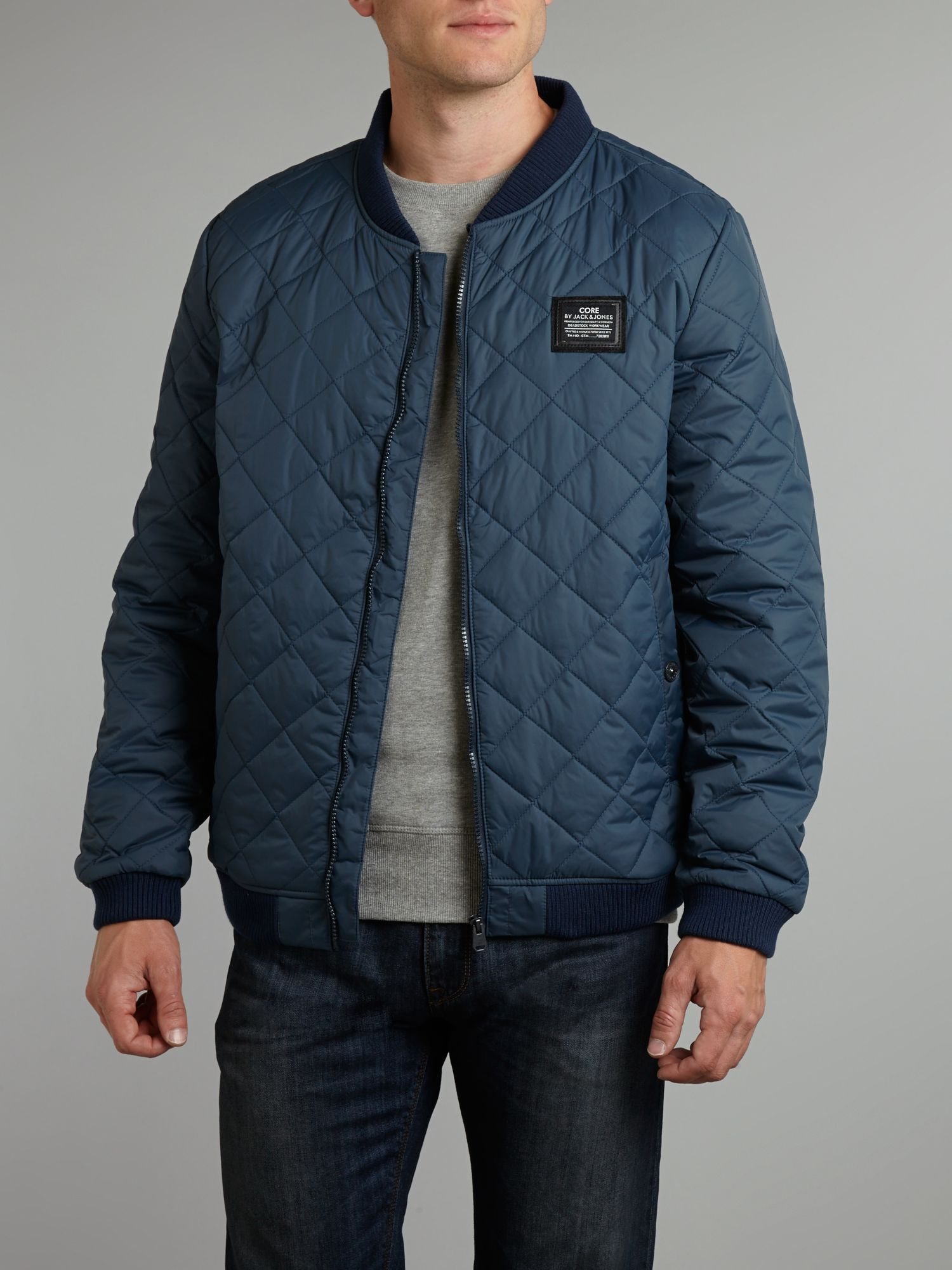 Men`s logo quilted jacket