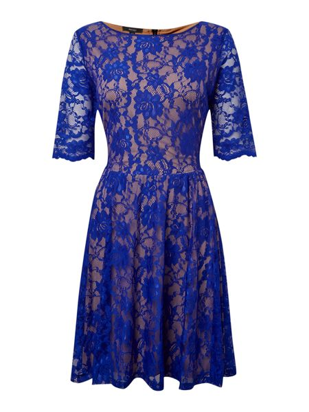 Therapy Lace skater contrast dress