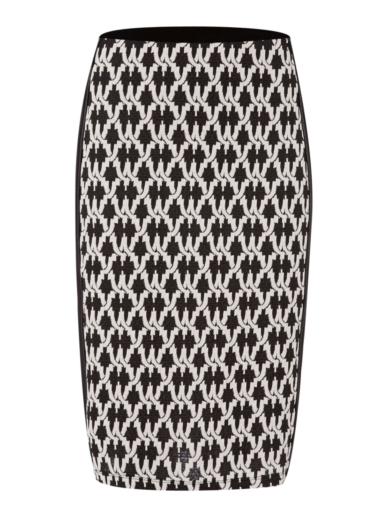 Dogtooth pencil skirt