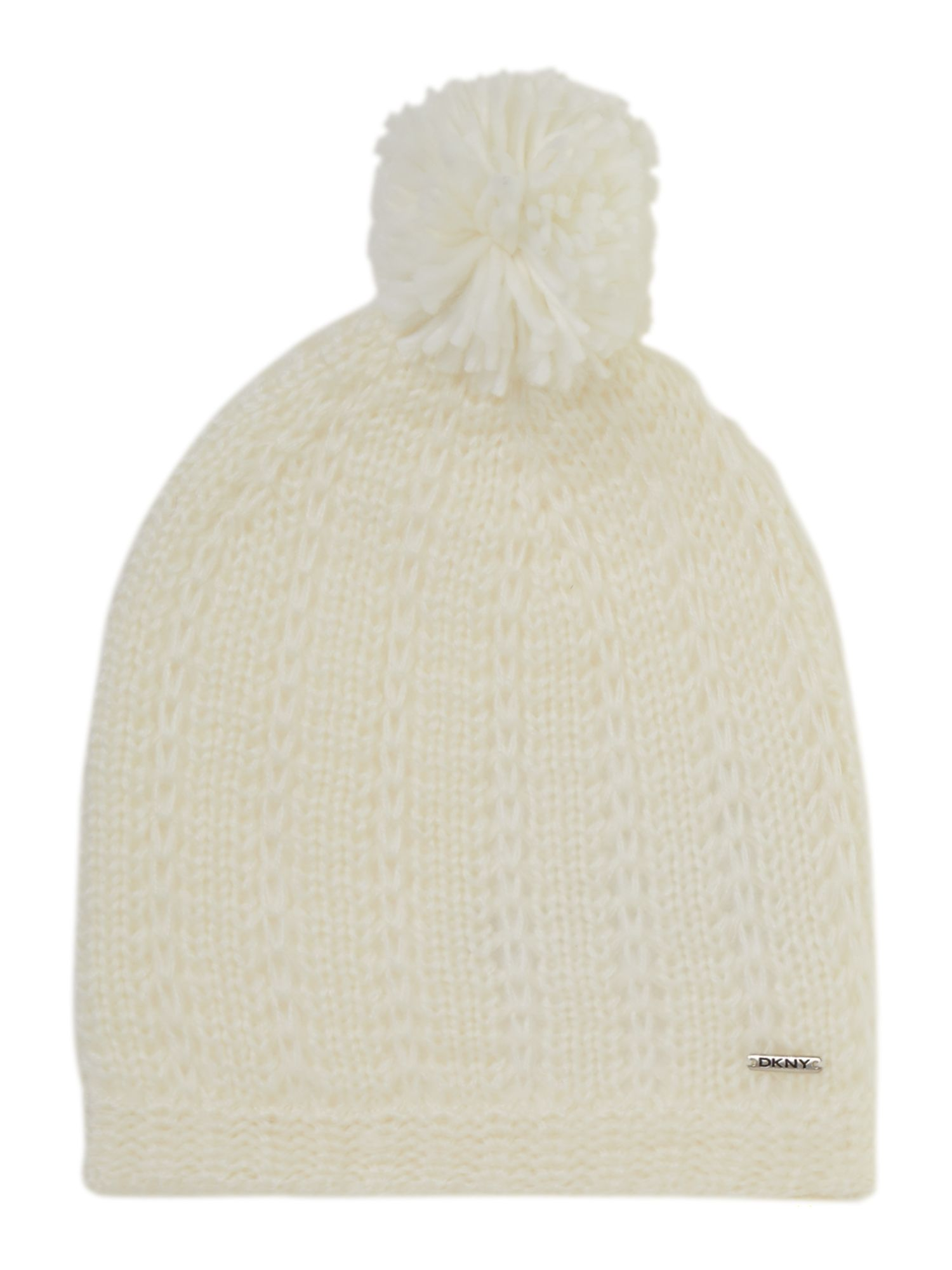 Girl`s knitted pull on hat