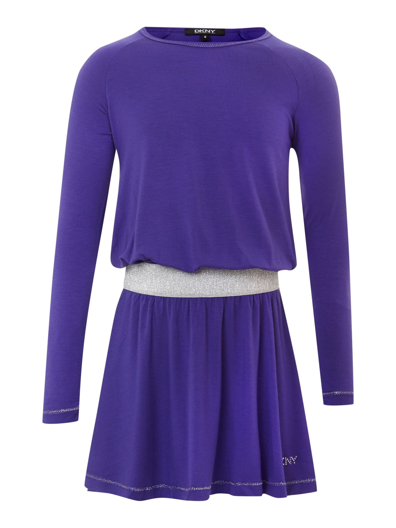 Girl`s jersey long sleeve dress