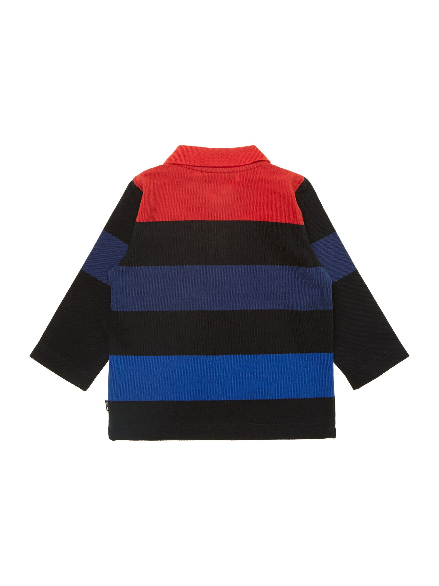 Boy`s cotton striped polo shirt
