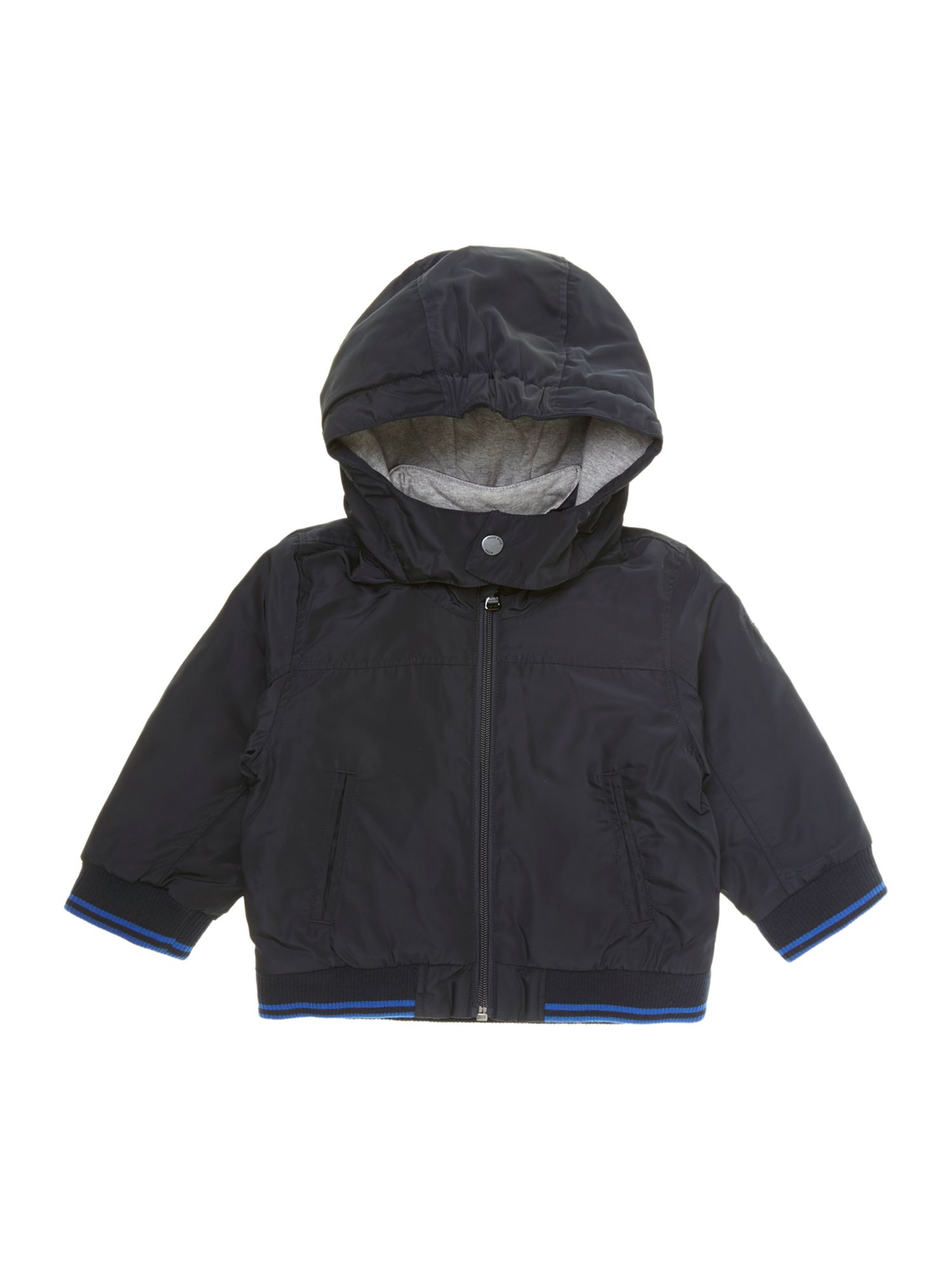 Boy`s jersey hooded long sleeve jacket