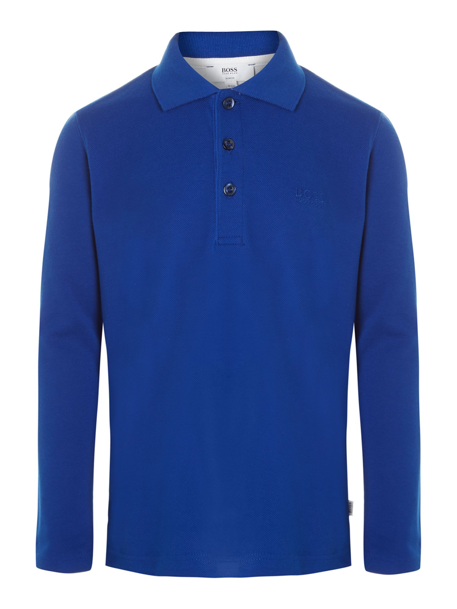 Boy's cotton long sleeve polo
