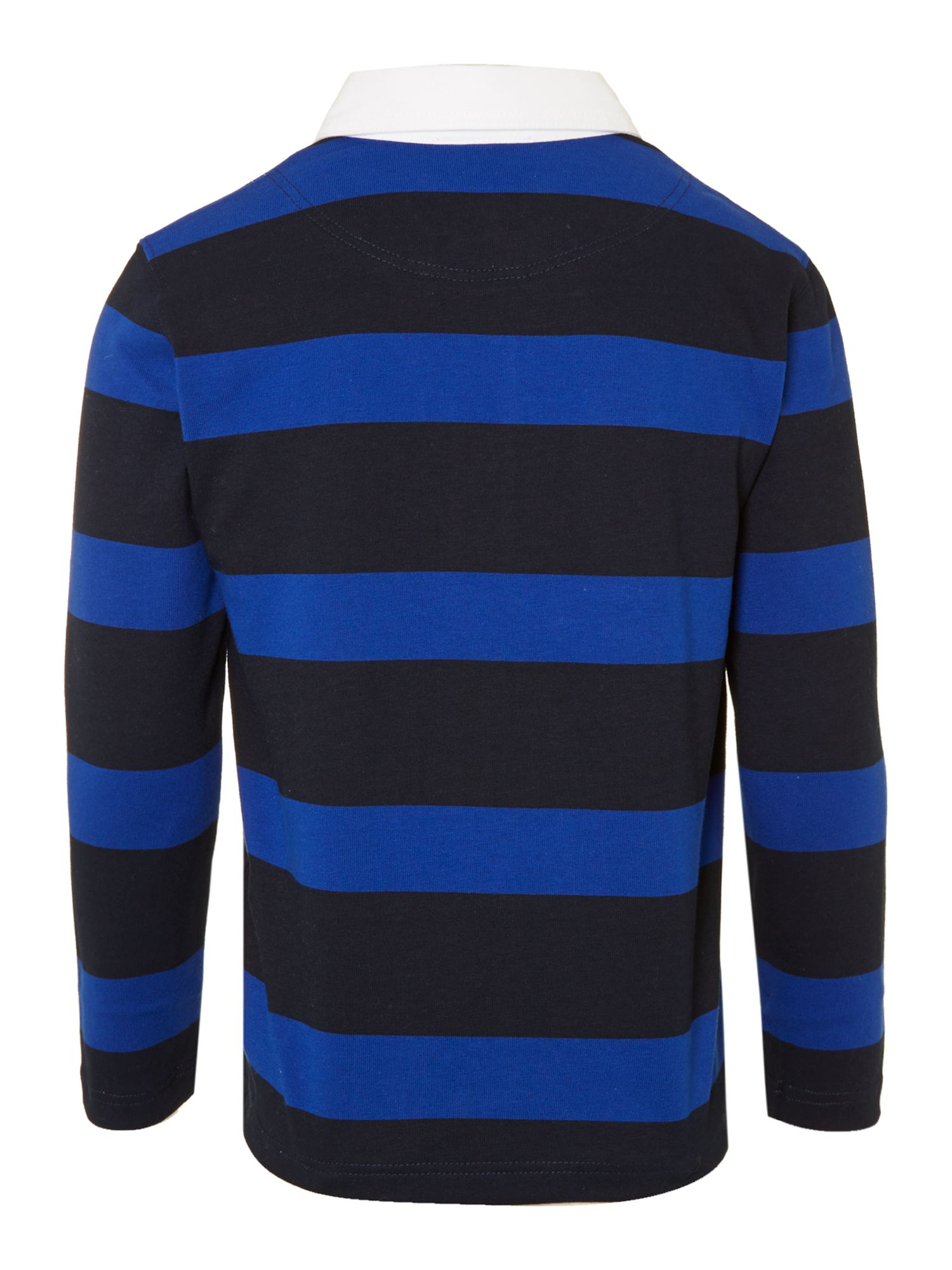Boy`s jersey striped polo