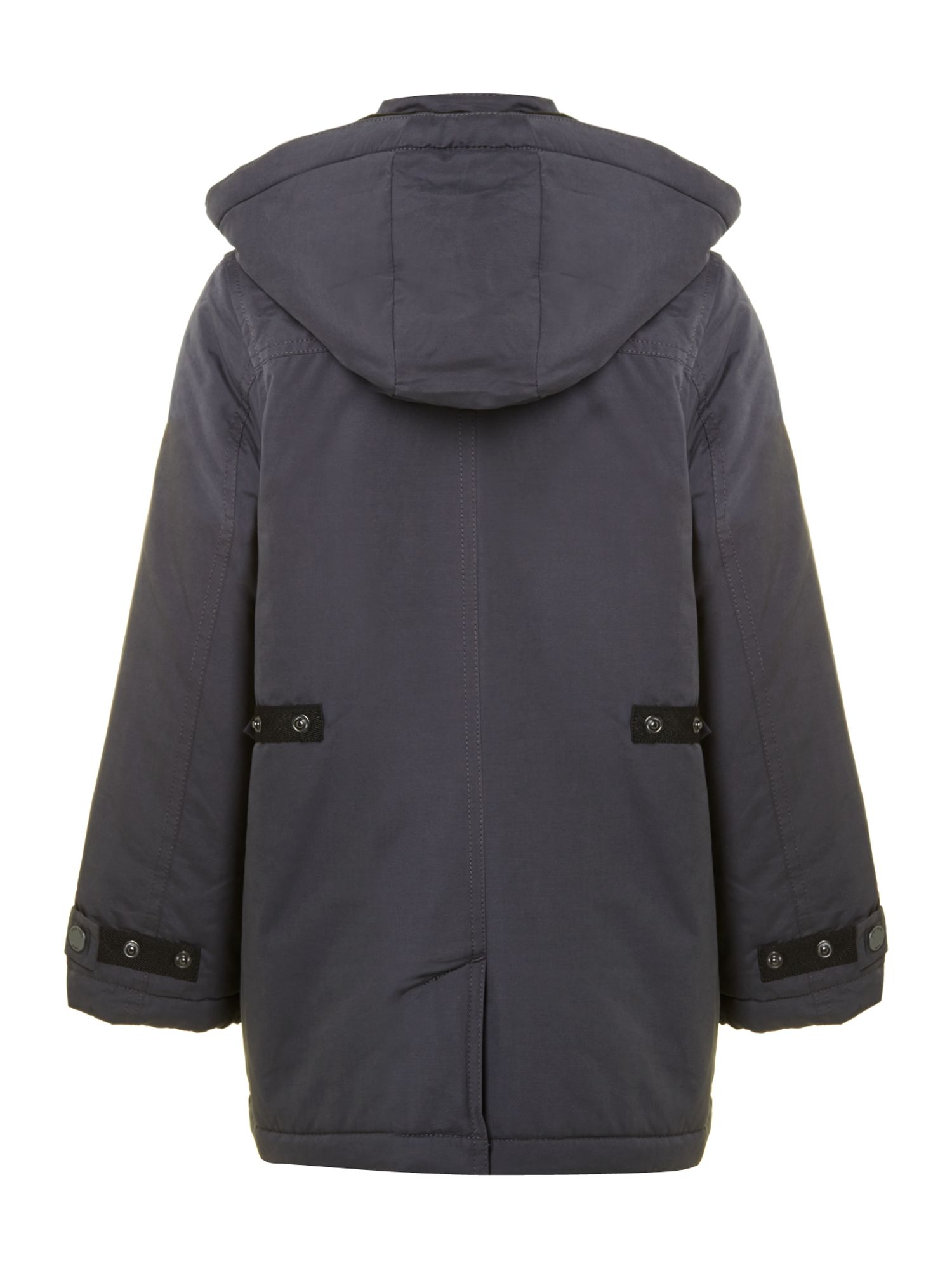 Boy`s hooded parka jacket
