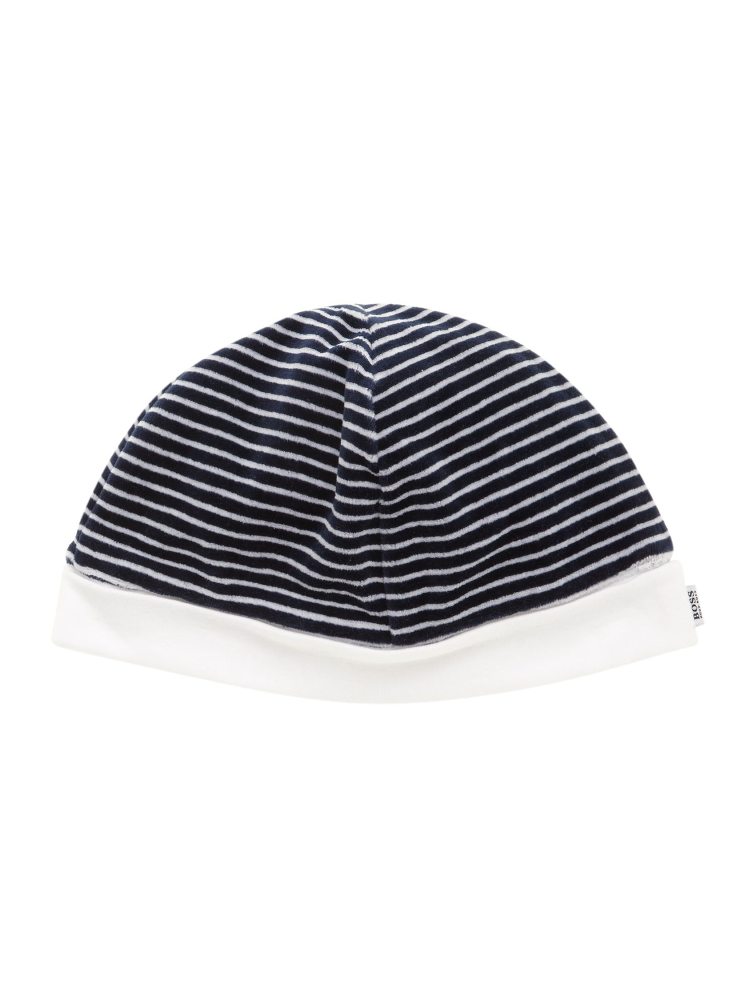 Boy`s velvet and plain jersey bonnet