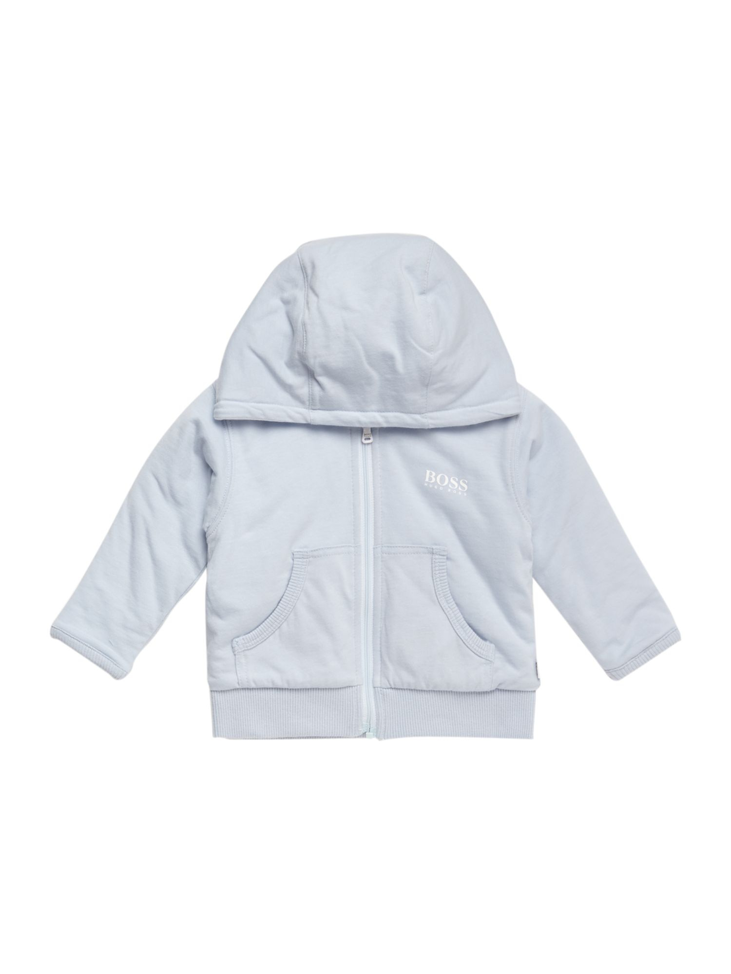 Boy`s reversible hooded cardigan