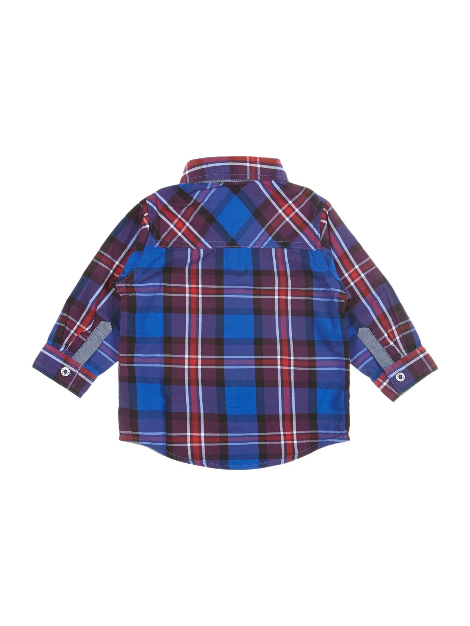 Boy`s check cotton shirt