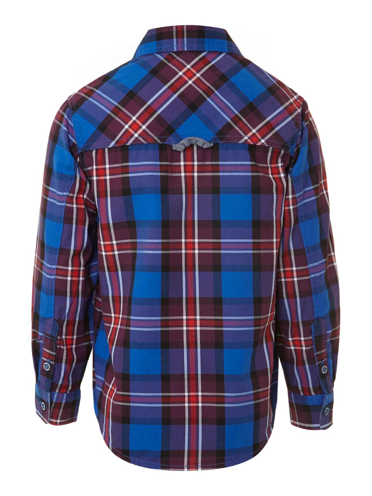 Boy`s cotton check twill shirt