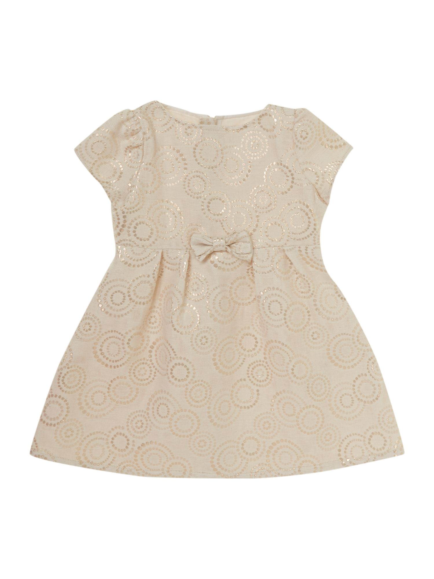 Girl`s jacquard short sleeve dress