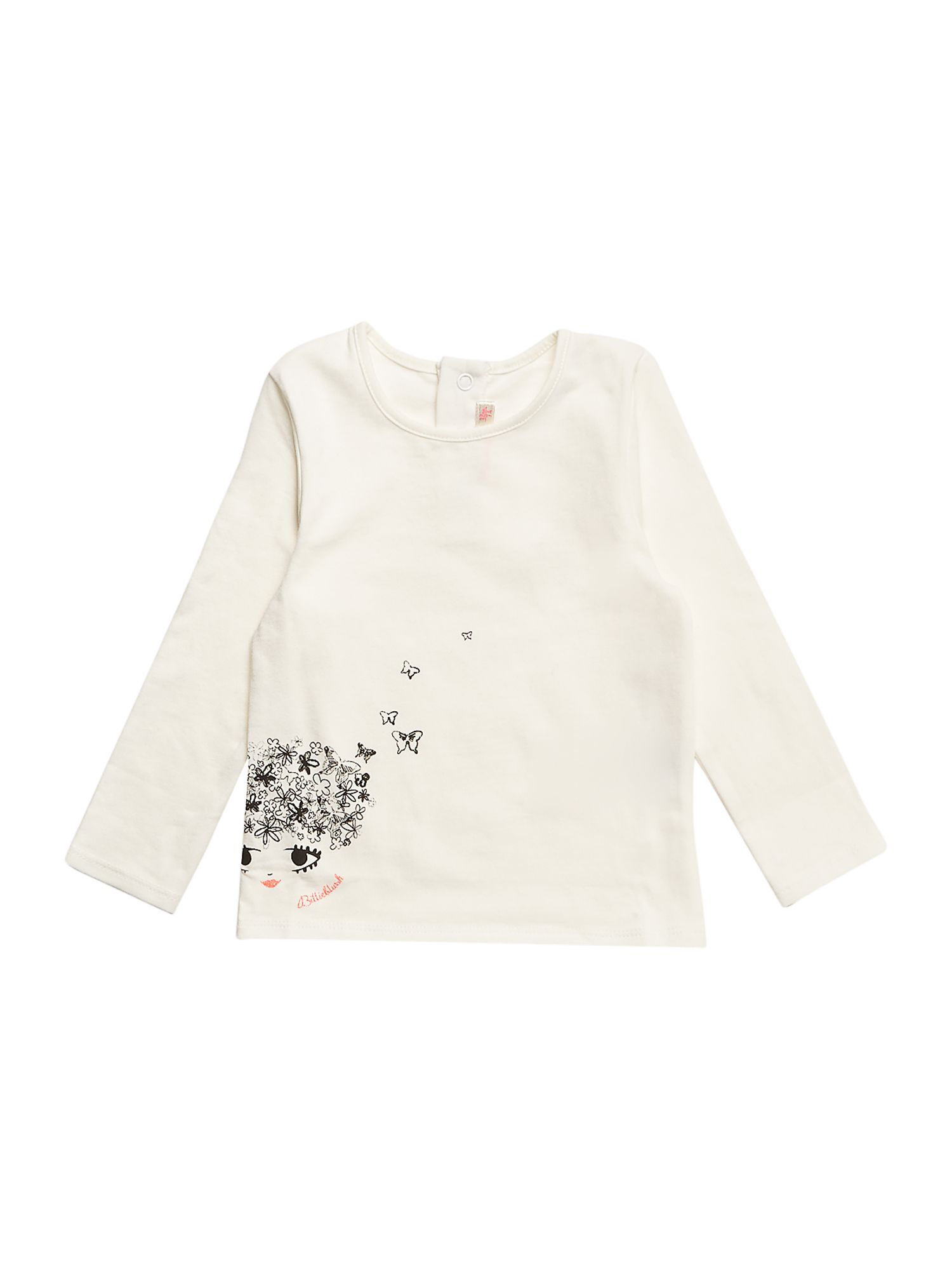 Girl`s cotton jersey long sleeve t-shirt