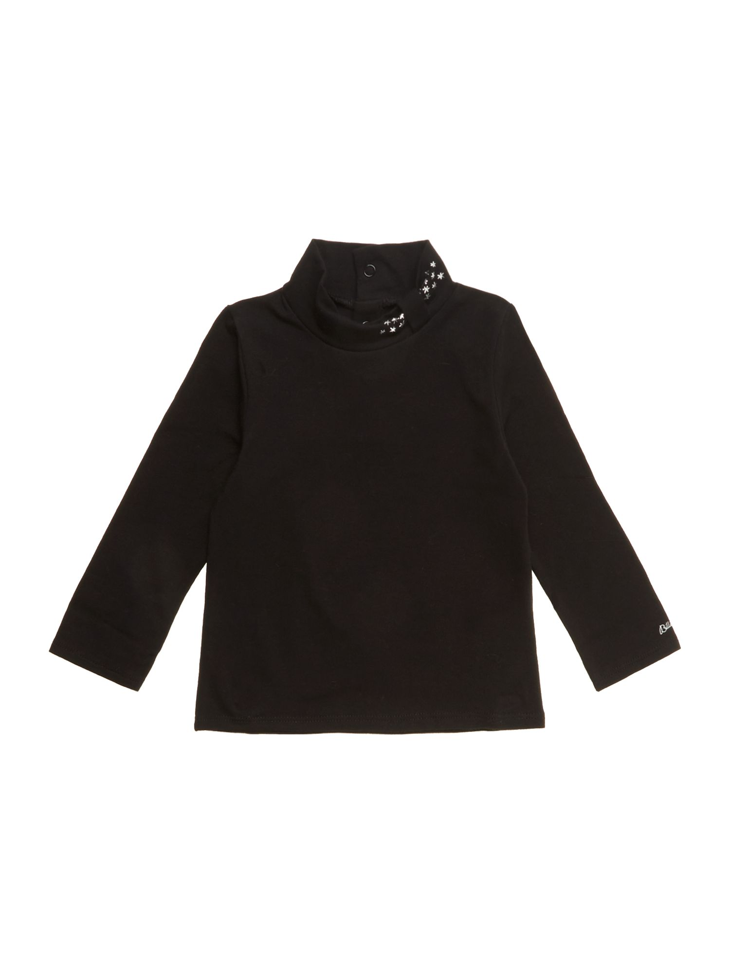 Girl`s cotton jersey turtle neck