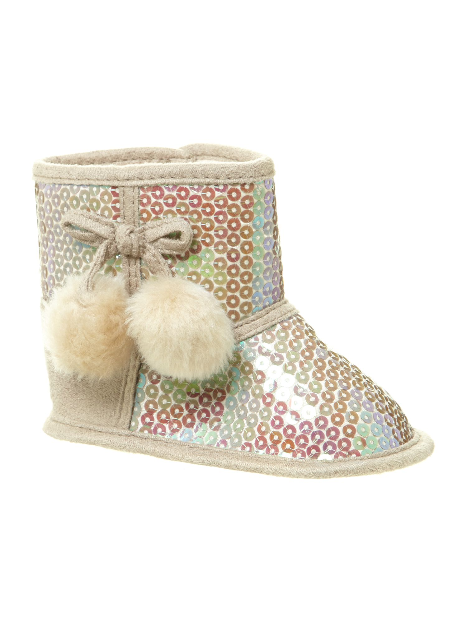 Girl`s sequined boots