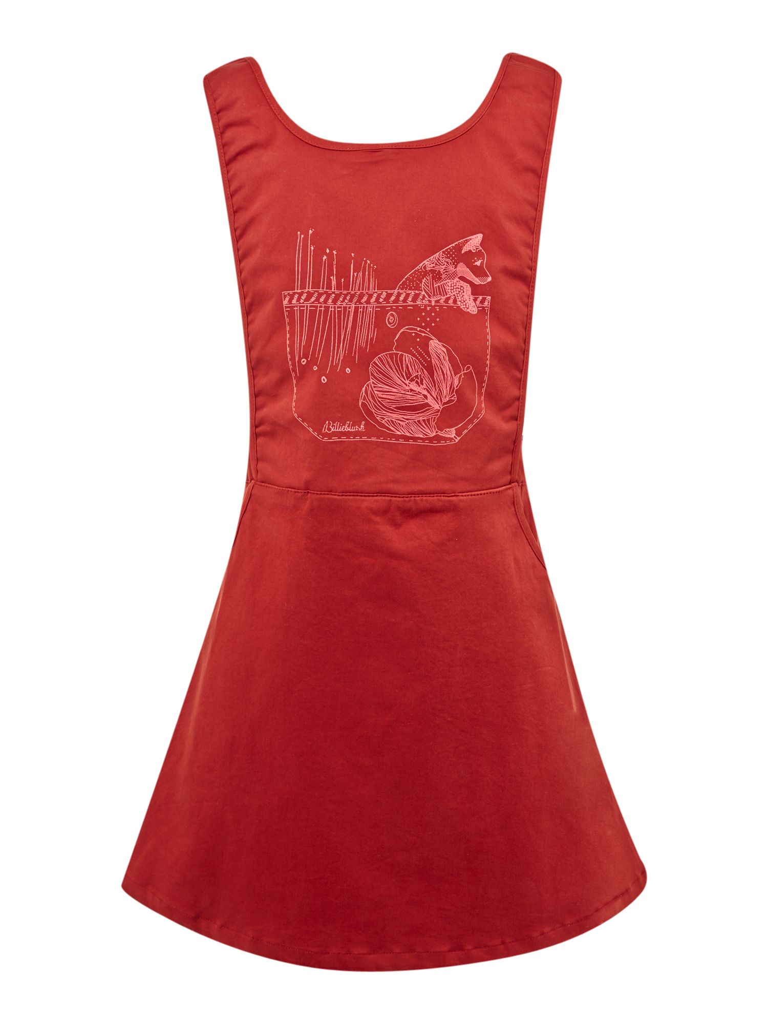 Girl`s satin overall sleeveless dress