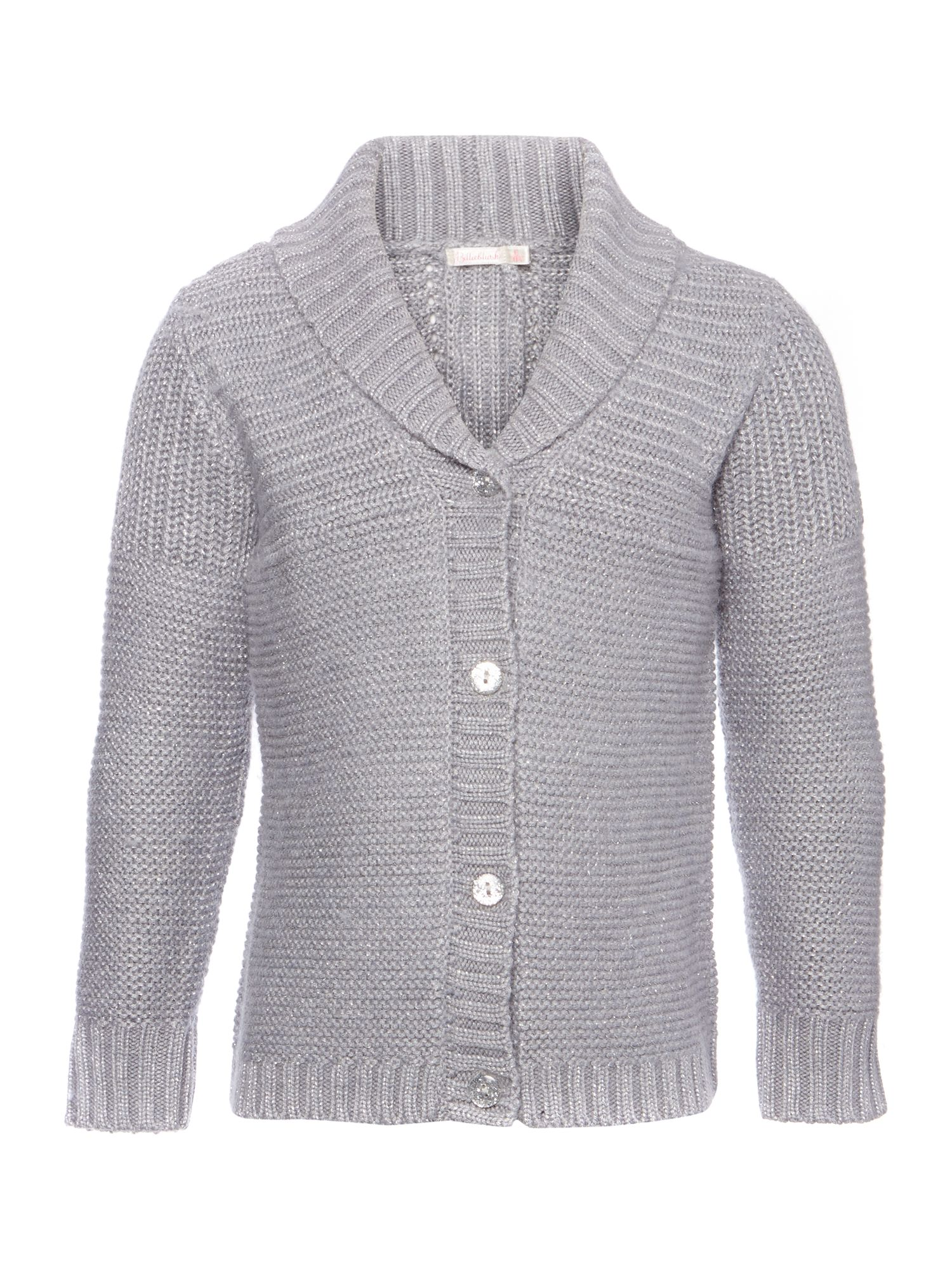 Girl`s knitted long sleeve cardigan