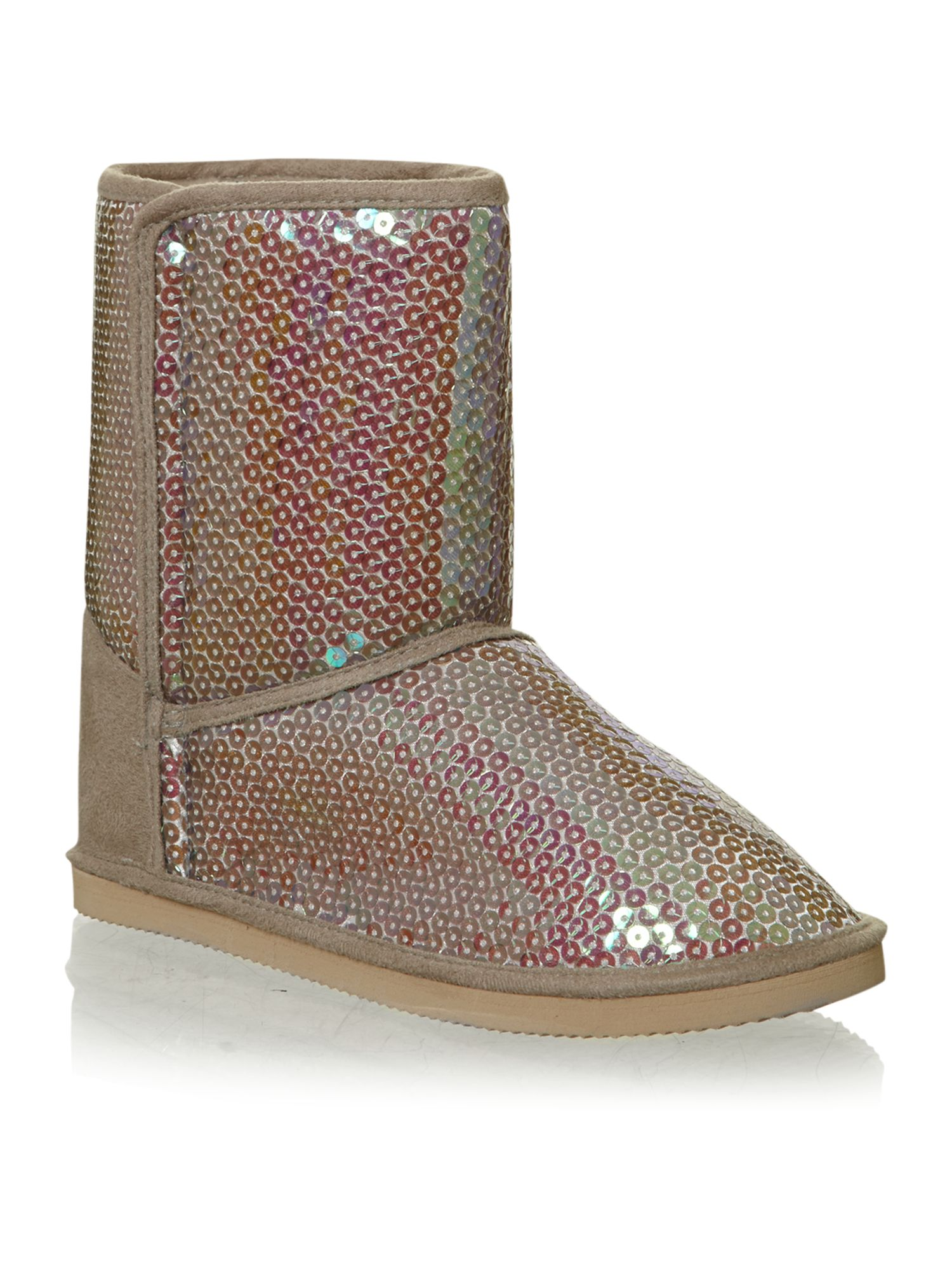 Girl`s sequin boots