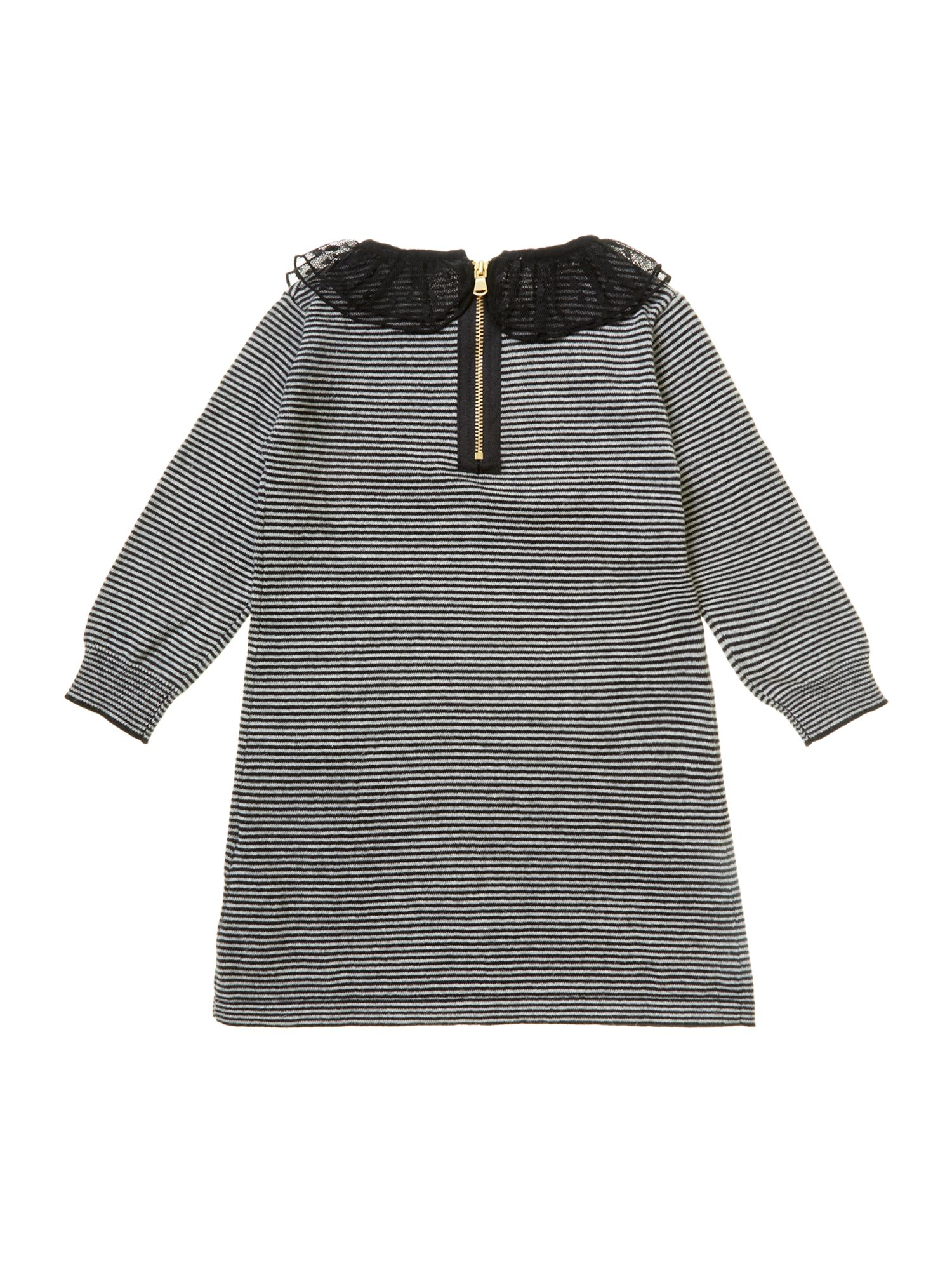 Girl`s long sleeve knitted dress