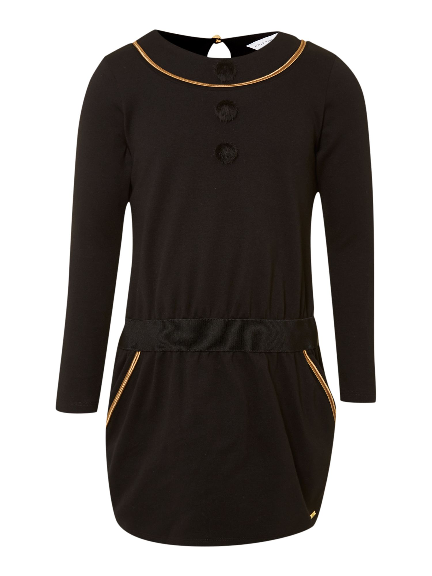 Girl`s milano cotton long sleeve dress