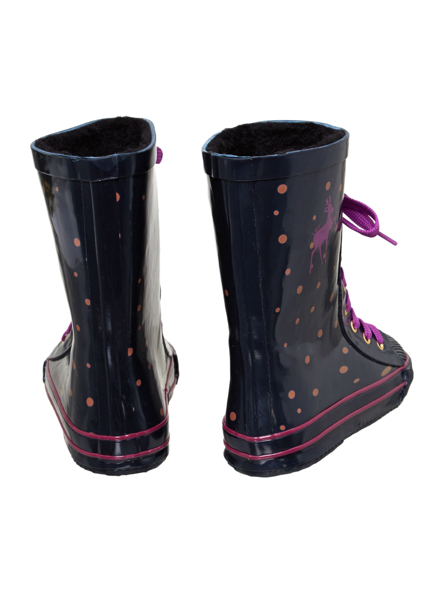 Girls` printed wellington boots