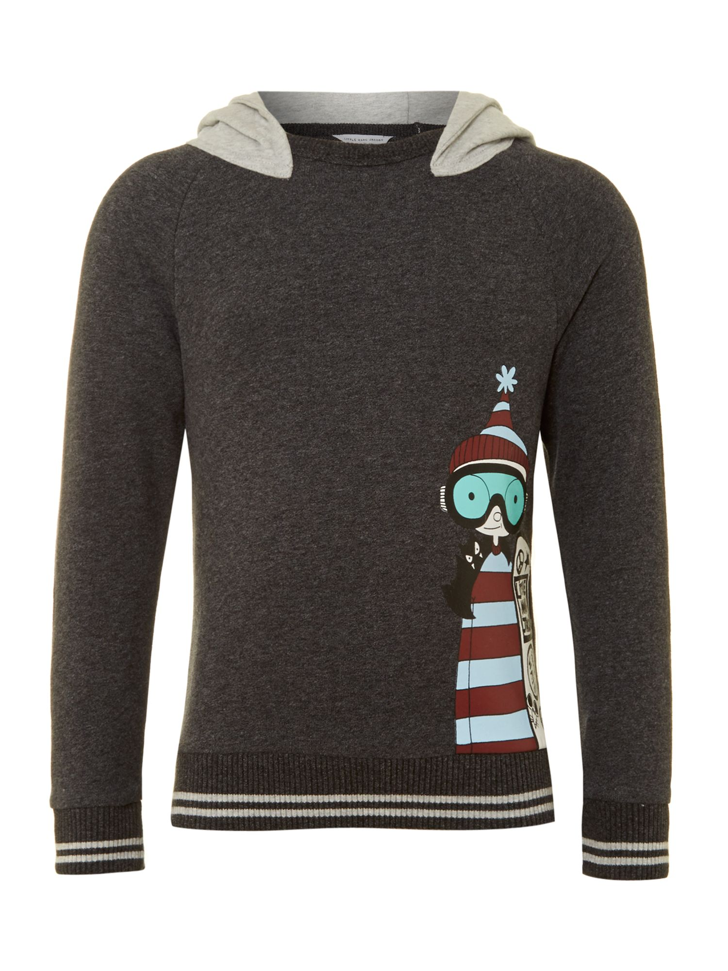 Boy`s long sleeve hooded top