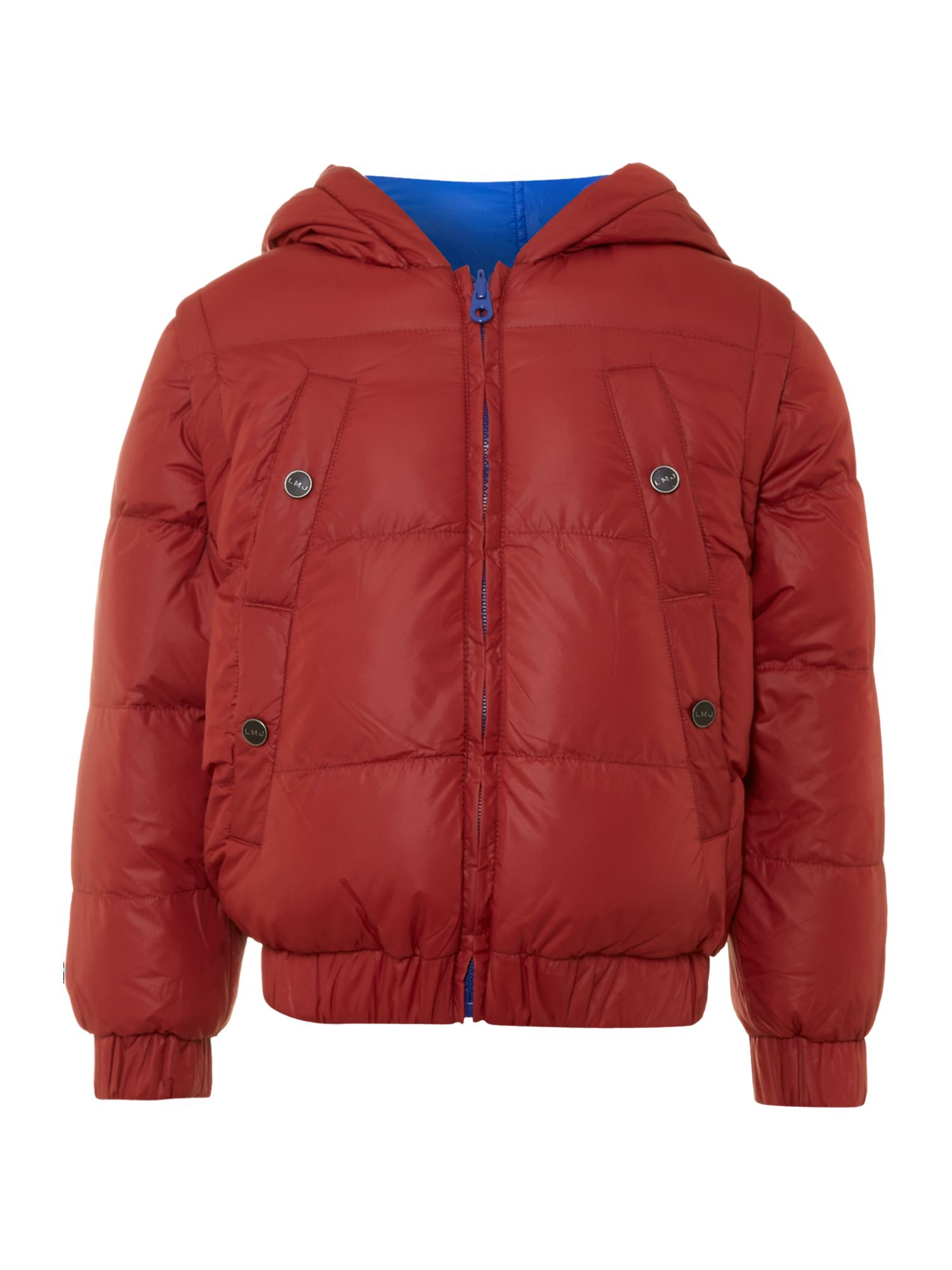 Boy`s long sleeve hooded down jacket