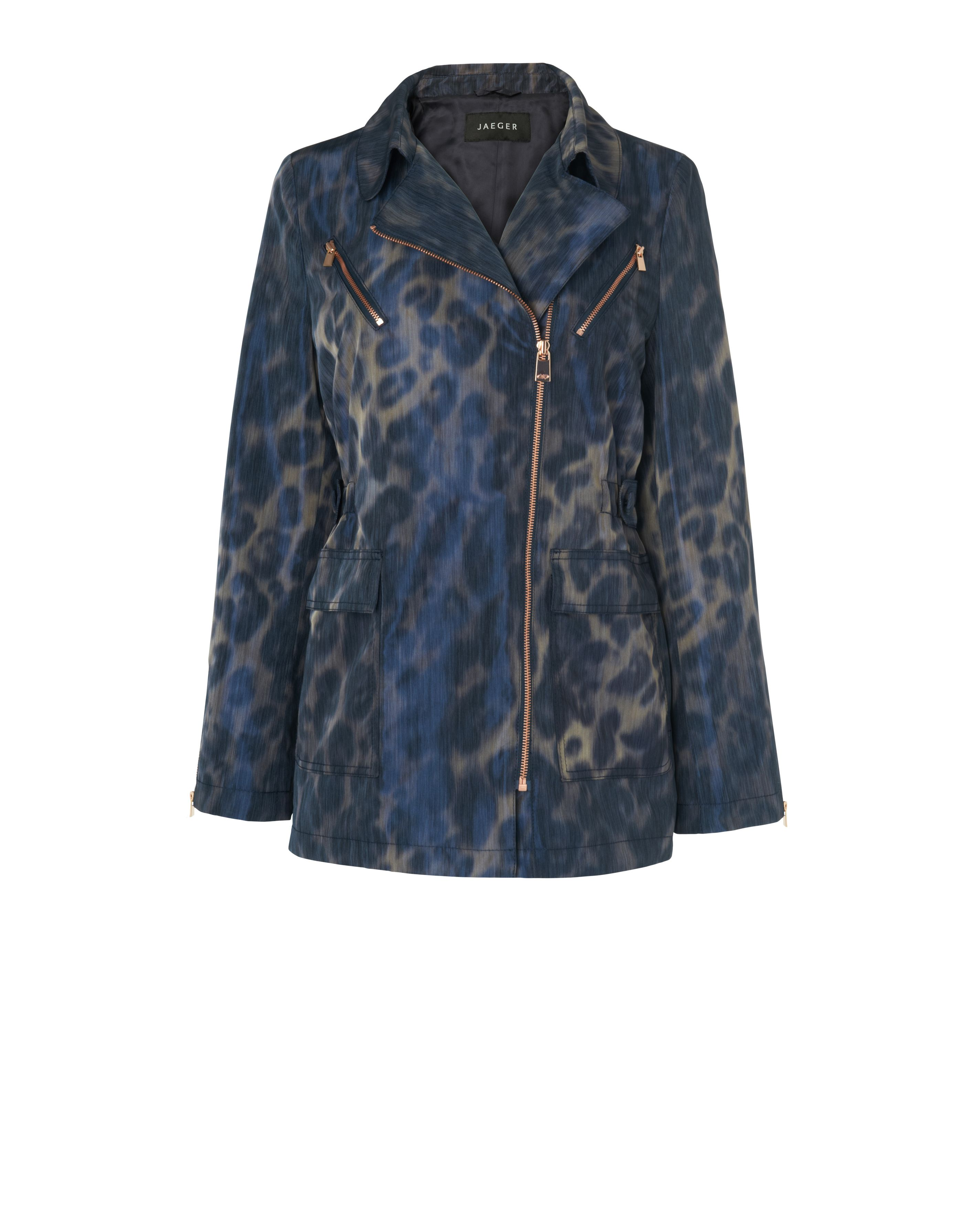 Animal jacquard parka