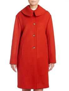 Peacoat with oversized collar