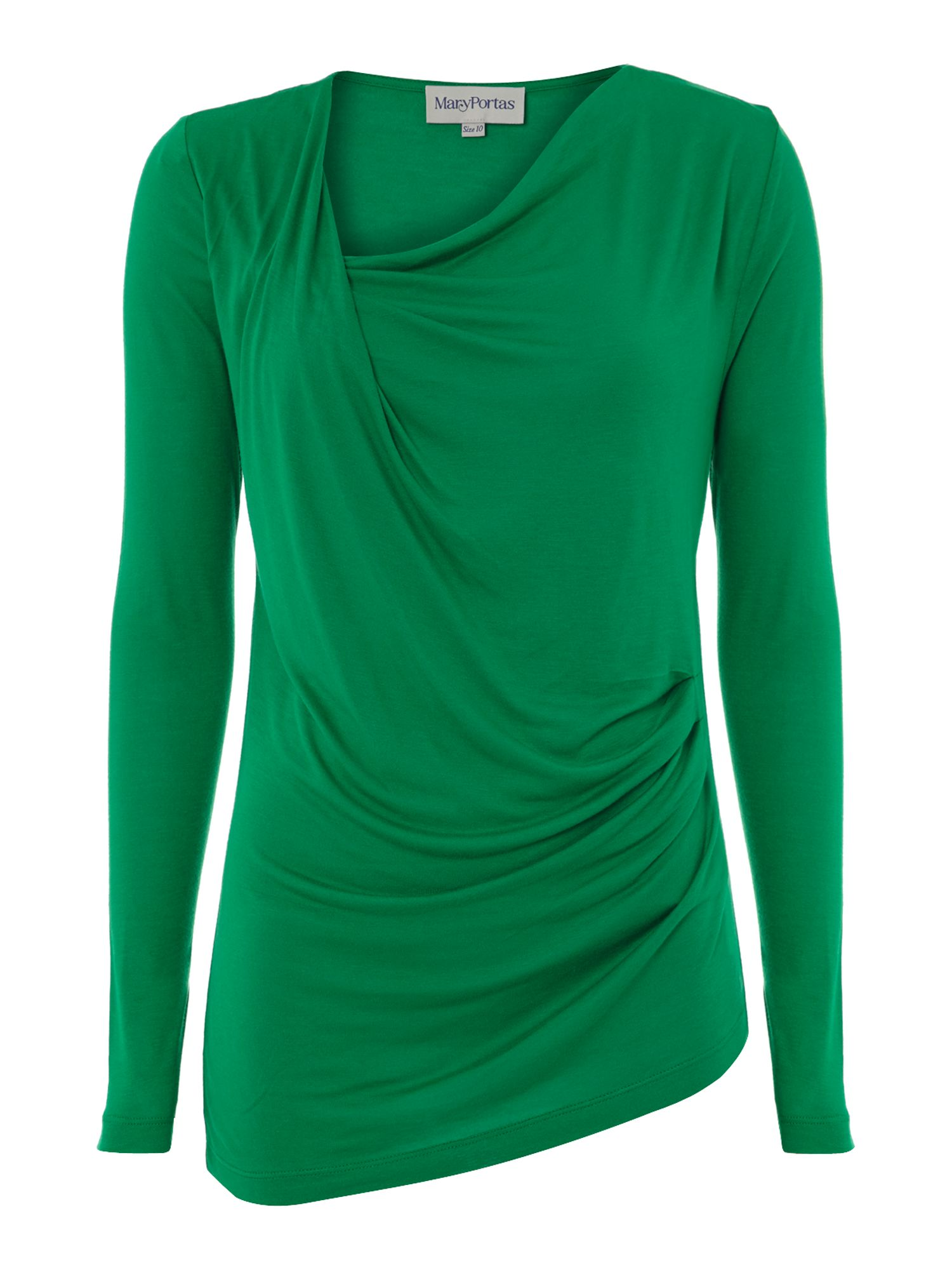 Twist detail long sleeve top