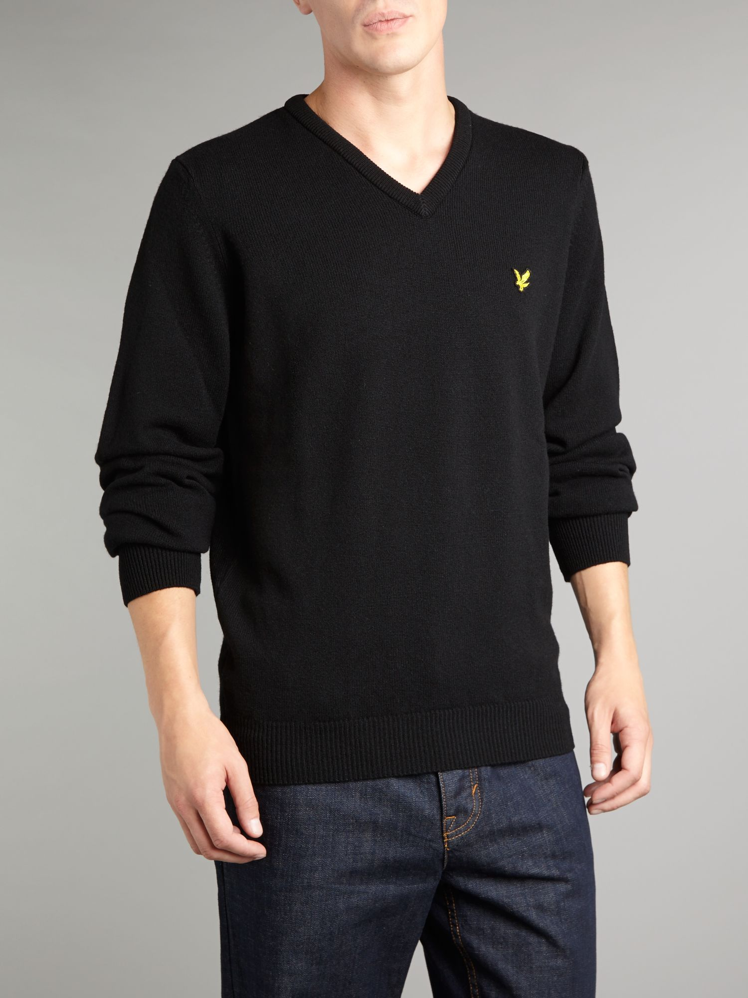 Classic v neck lambswool jumper